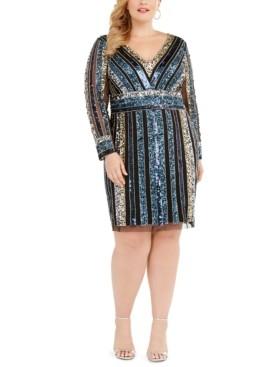 Adrianna Papell Size Embellished Sheath Dress