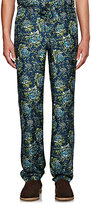 Burberry X Barneys New York Men's Floral-Print Silk Pajama Trousers-TURQUOISE