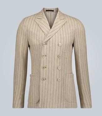 The Gigi Ziggy striped double-breasted blazer