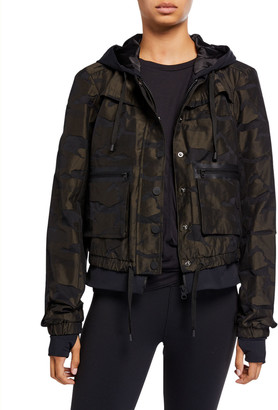 Blanc Noir Skyfall Camo-Print Aviator Jacket