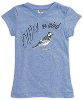 Urban Smalls Heather Blue Wild As Wind Fitted Tee - Toddler & Girls