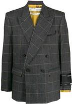 Off-White check print blazer