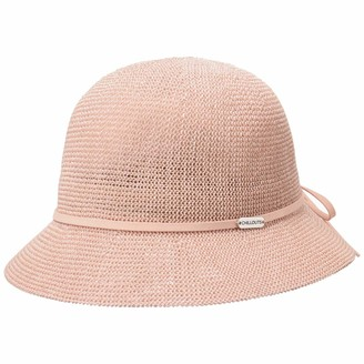 CHILLOUTS Estoril Cloche Straw Hat Womens Summer (One Size - Rose)
