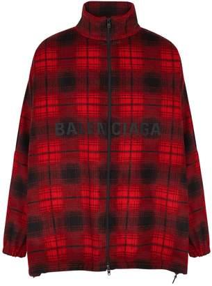 Balenciaga Checked Wool-blend Jacket