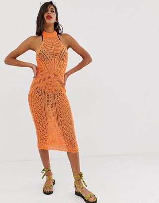 ASOS DESIGN crochet midi dress