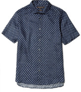 Michael Kors - Slim-fit Dot-print Linen Shirt