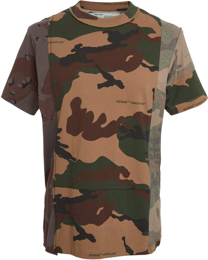 Off-White Reconstructed Camouflage T-Shirt