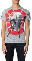 Philipp Plein Thai Jersey Skull & Swords Printed T-shirt