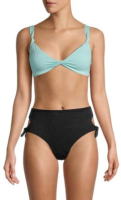 L*Space By Monica Wise Turner Knot-Front Bikini Top