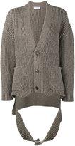 Balenciaga Draped slash hem cardigan - women - Polyamide/Virgin Wool - 34