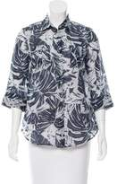 Max Mara Printed Short-Sleeve Top w/ Tags