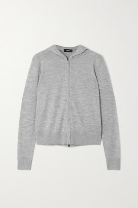 Theory Cashair Cashmere Hoodie - Light gray