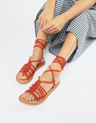 ASOS DESIGN Fredo suede knotted two part with tie leg
