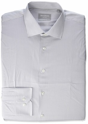 Hickey Freeman Men's Contemporary Fitted Long Dress Shirt