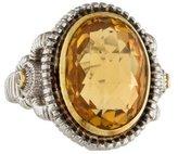 Judith Ripka Citrine & Diamond Ring