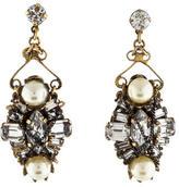 Erickson Beamon Crystal & Pearl Chandelier Earrings
