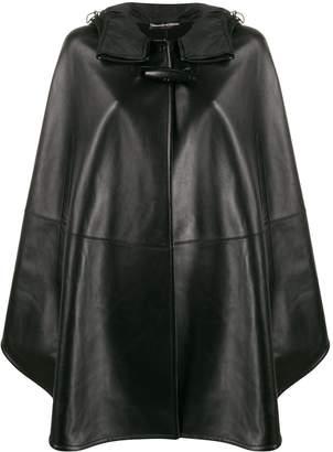 Ermanno Scervino hooded leather cape