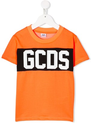 Gcds Kids Band Logo print T-shirt