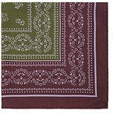 Barneys New York Men's Floral-Print Silk Twill Pocket Square-GREEN