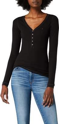 Tommy Hilfiger Tommy Jeans Women's Long Sleeve Original Henley Shirt