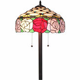 AMORA Amora Lighting AM062FL16 Tiffany Style Roses 61-inch Floor Lamp 62 in