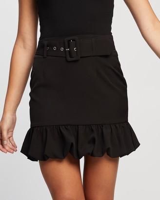 Atmos & Here Atmos&Here - Women's Black Mini skirts - Mia Mini Skirt - Size 8 at The Iconic