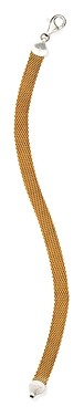 Argentovivo Flat Mesh Chain Bracelet in 18K Gold-Plated Sterling Silver