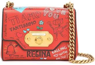 Dolce & Gabbana Printed Leather Shoulder Bag