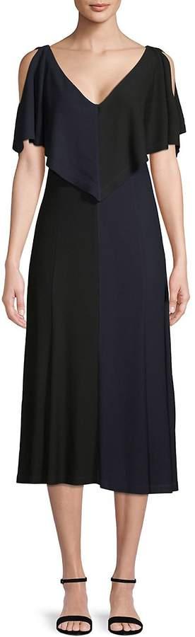 Derek Lam Women's Handkerchief Cold-Shoulder Dress