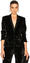 Jonathan Simkhai Crushed Velvet Jacket in Black.