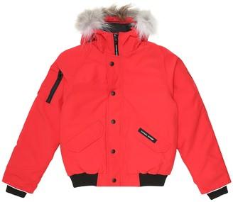 Canada Goose Kids Rundle fur-trimmed down jacket