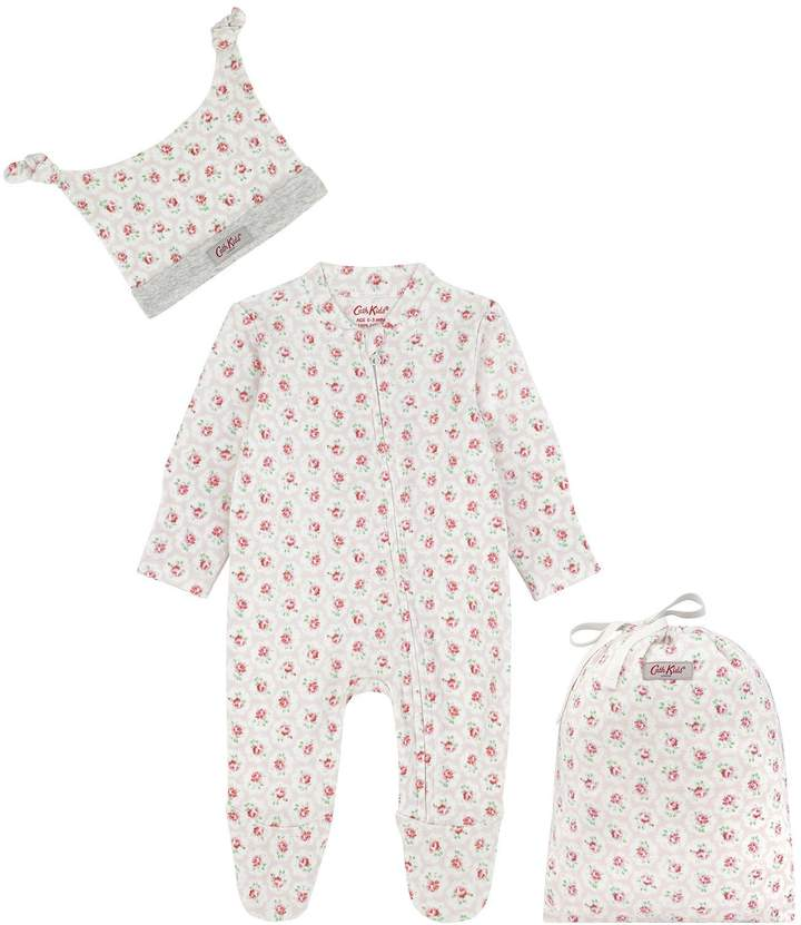 ef5dd8f89 Baby Girls Rose Sleepsuit And Hat Set - Pink