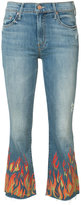 Mother Insider crop fray jeans - women - Cotton/Polyester/Spandex/Elastane - 24