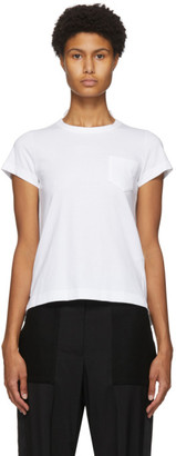 Sacai White Pleated Back T-Shirt