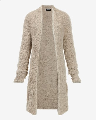 Express Fuzzy Faux Fur Cardigan