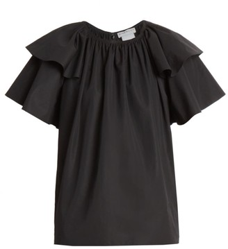 Givenchy Volant Ruffle Sleeve Top