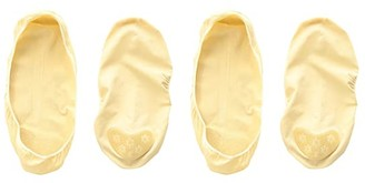 Jefferies Socks Seamless Nylon Footie w/ No-Slip Heel Foot 2-Pack (Little Kid/Big Kid) (Nude) Girls Shoes