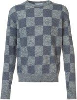 Ami Alexandre Mattiussi checked intarsia sweater