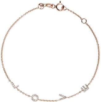 Kismet by Milka 14kt rose gold Love diamond bracelet