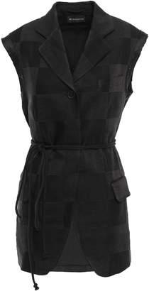 Ann Demeulemeester Linen-blend Jacquard Vest