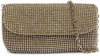 Badgley Mischka Goldtone Beaded Evening Bag Clutch