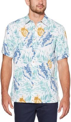 Cubavera Men's Tropical Allover Print Shirt