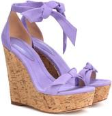 Alexandre Birman Clarita 120 suede wedge sandals
