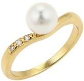 Mikimoto Akoya Pearls & Diamonds 18K Yellow Gold Ring