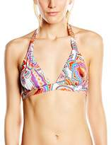 Huit Women's Pink Tonic Triangle Triangle Printed 2-Piece Swimsuit - multi-coloured - 32B