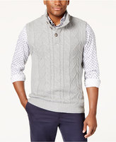 Club Room Men's Cable-Knit Sweater Vest, Created for Macy's