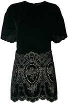 Plein Sud Jeans embroidered fitted dress