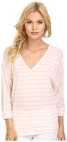 C&C California 3/4 Sleeve Double V-Neck Dolman