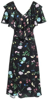 Paper London Maeva Ruffle-trimmed Floral-print Twill Midi Dress