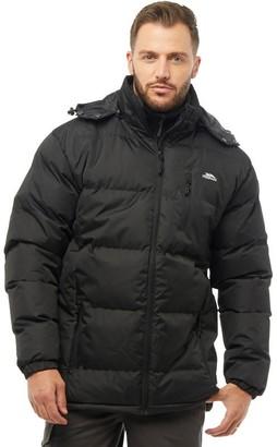 Trespass Mens Clip Padded Hooded Jacket Black